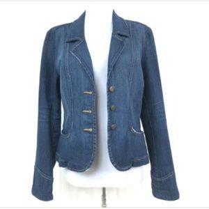 Karen Kane Medium Jean Jacket Distressed Blue L/S